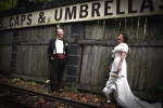 Photo de mariage rail de train