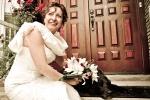 Photo de mariage chien
