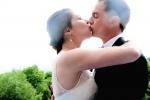 Photo de mariage baiser