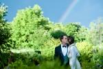 Photo de mariage arc-en-ciel