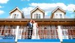 Photo de mariage balcon